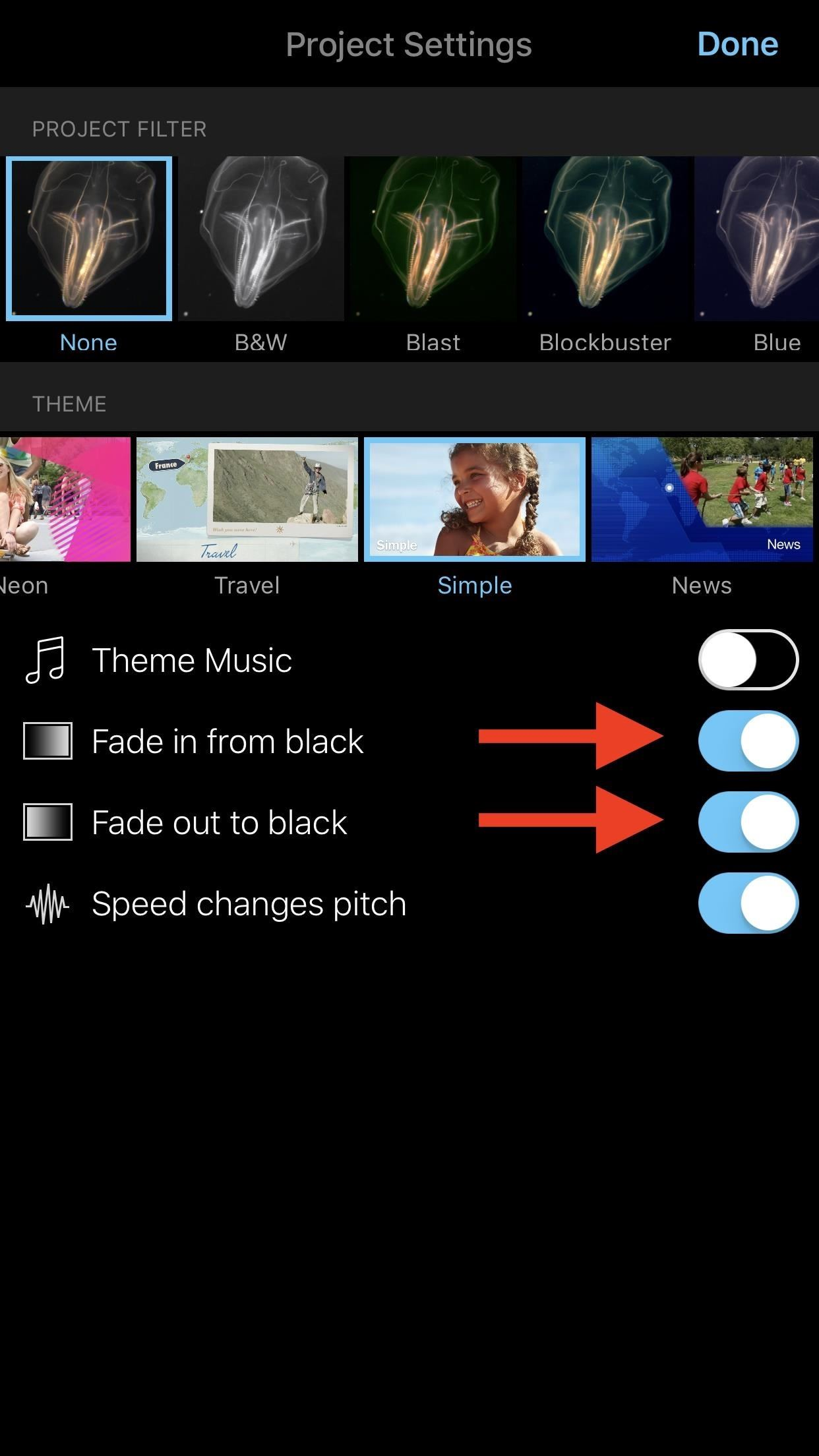 How to Add Fade-Ins, Fade-Outs & Fade-Through Transitions to iMovie Projects on Your iPhone