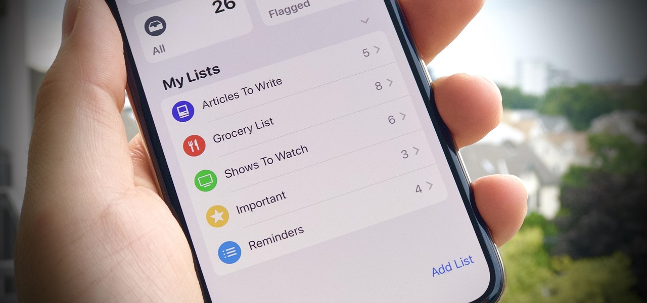 Change List Colors & Icons in iOS 13's Reminders App for a More Customized Look