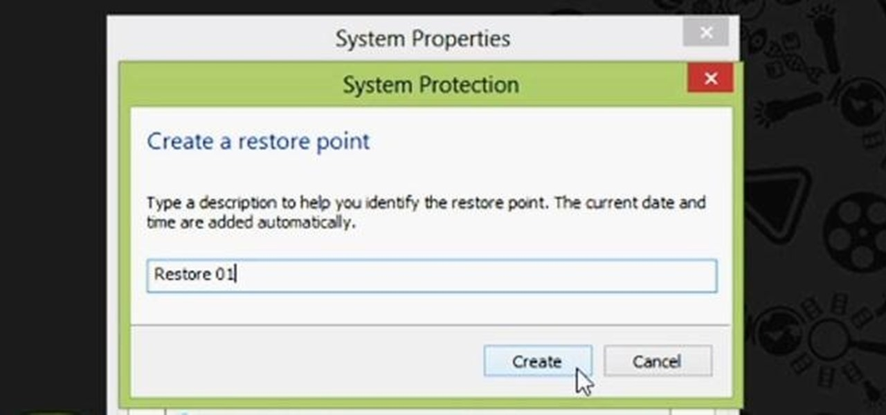 Create a Restore Point in Windows 8