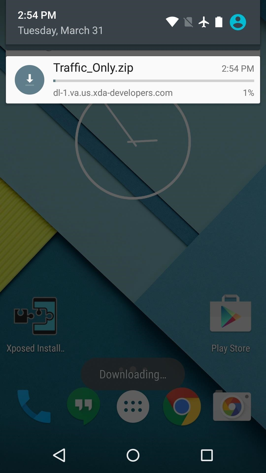How to Add a Data Traffic Meter to Your Nexus 5's Status Bar