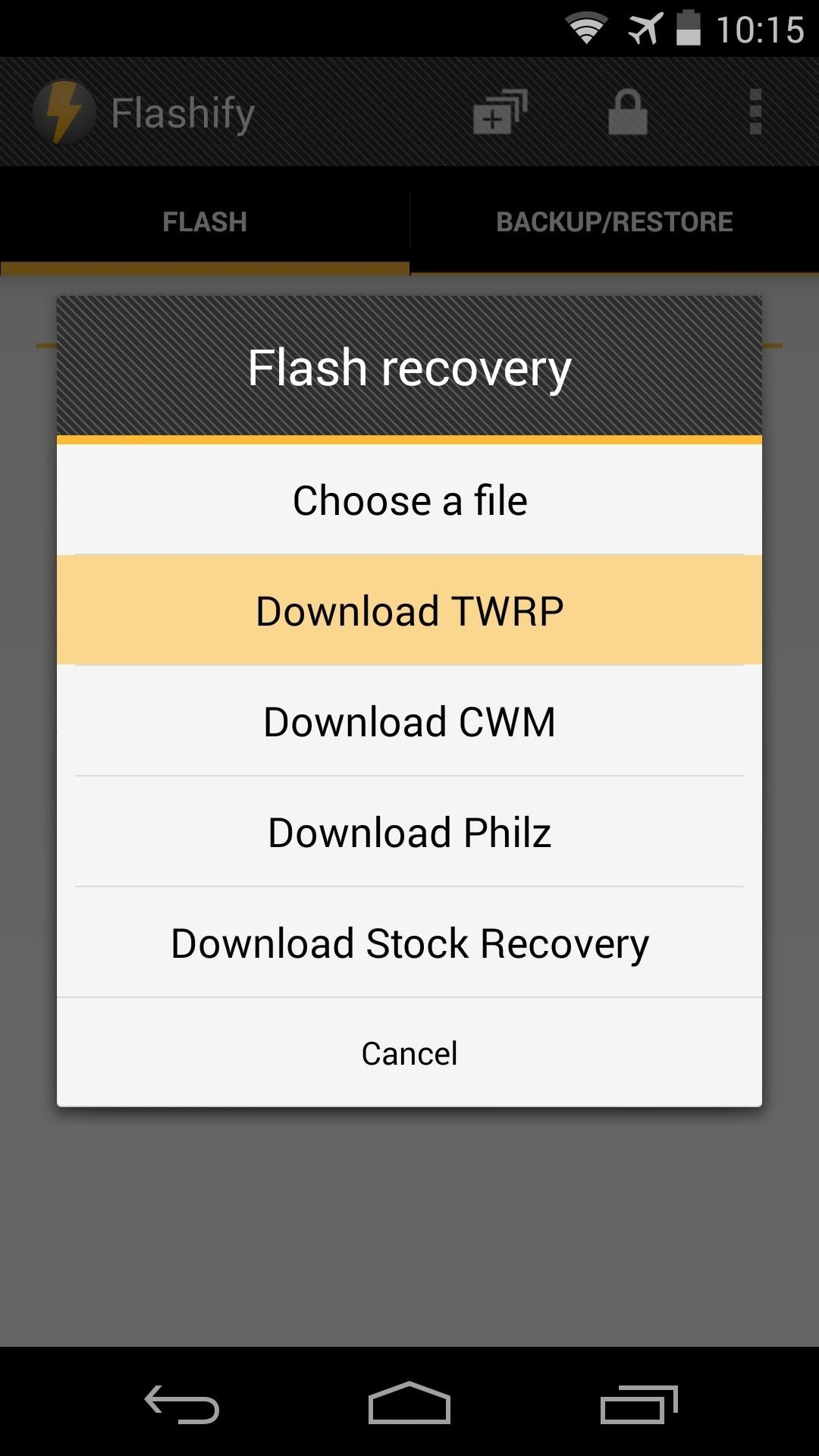 How to Install a Custom Recovery on Your Nexus Without Using a Computer