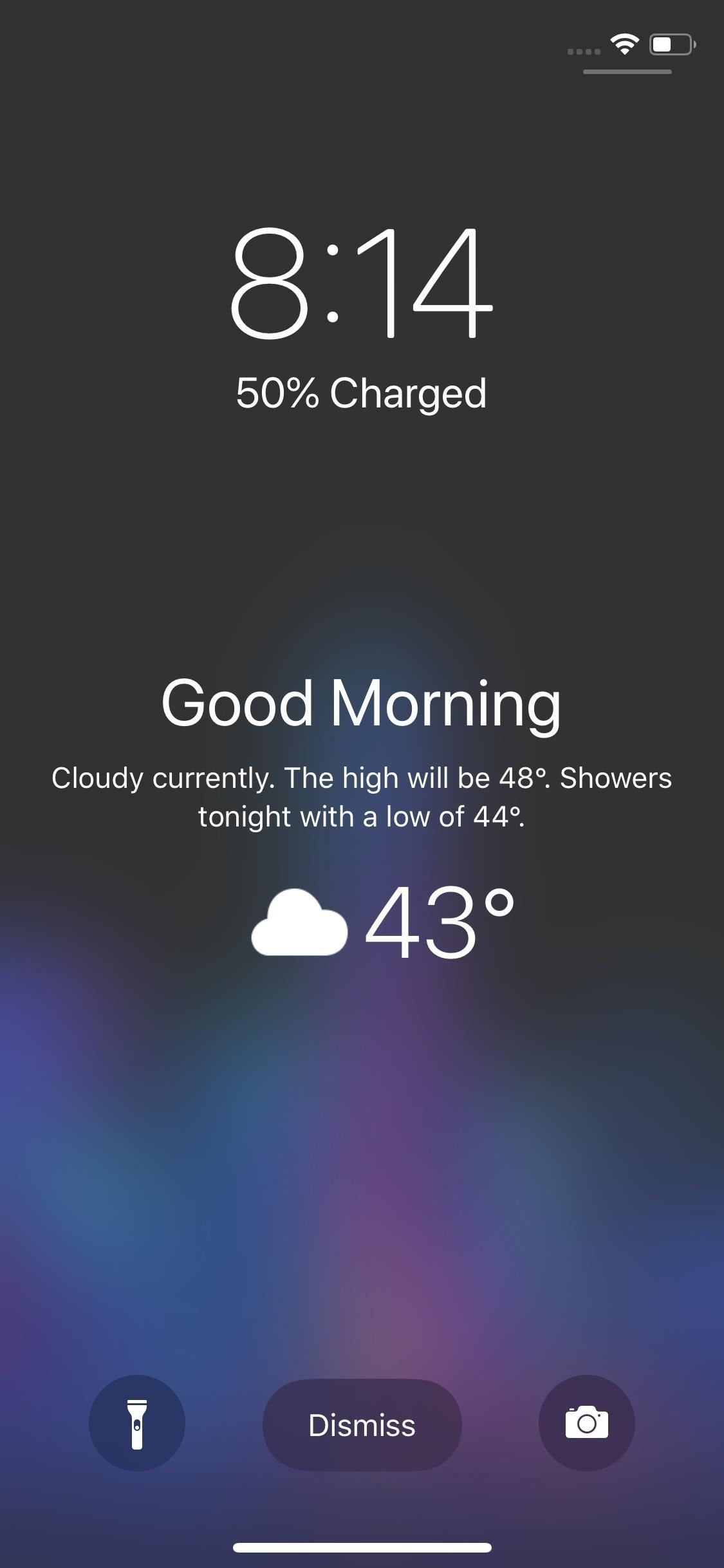 Disable the & # 39; Good Morning & # 39; message on the lock screen of your iPhone