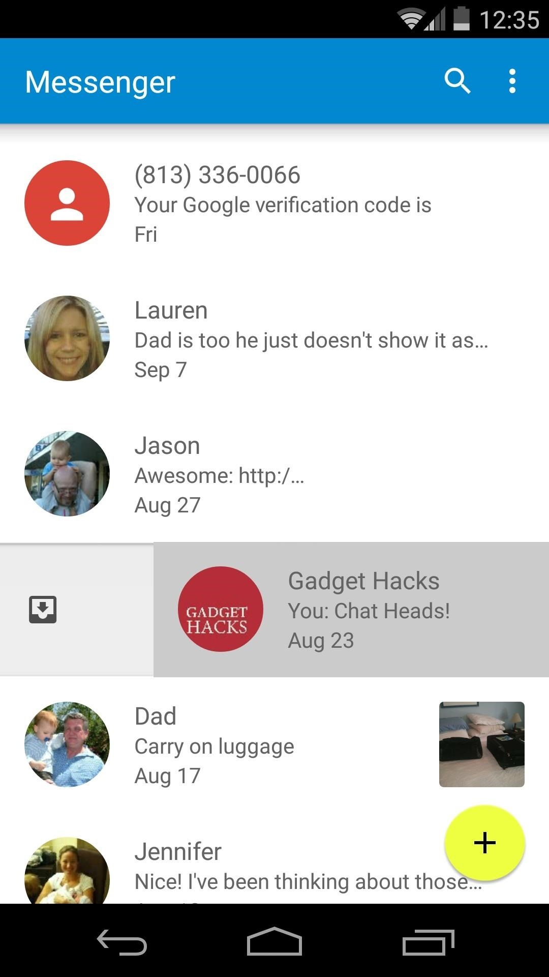 Install the Android 5.0 Lollipop Messenger App on KitKat