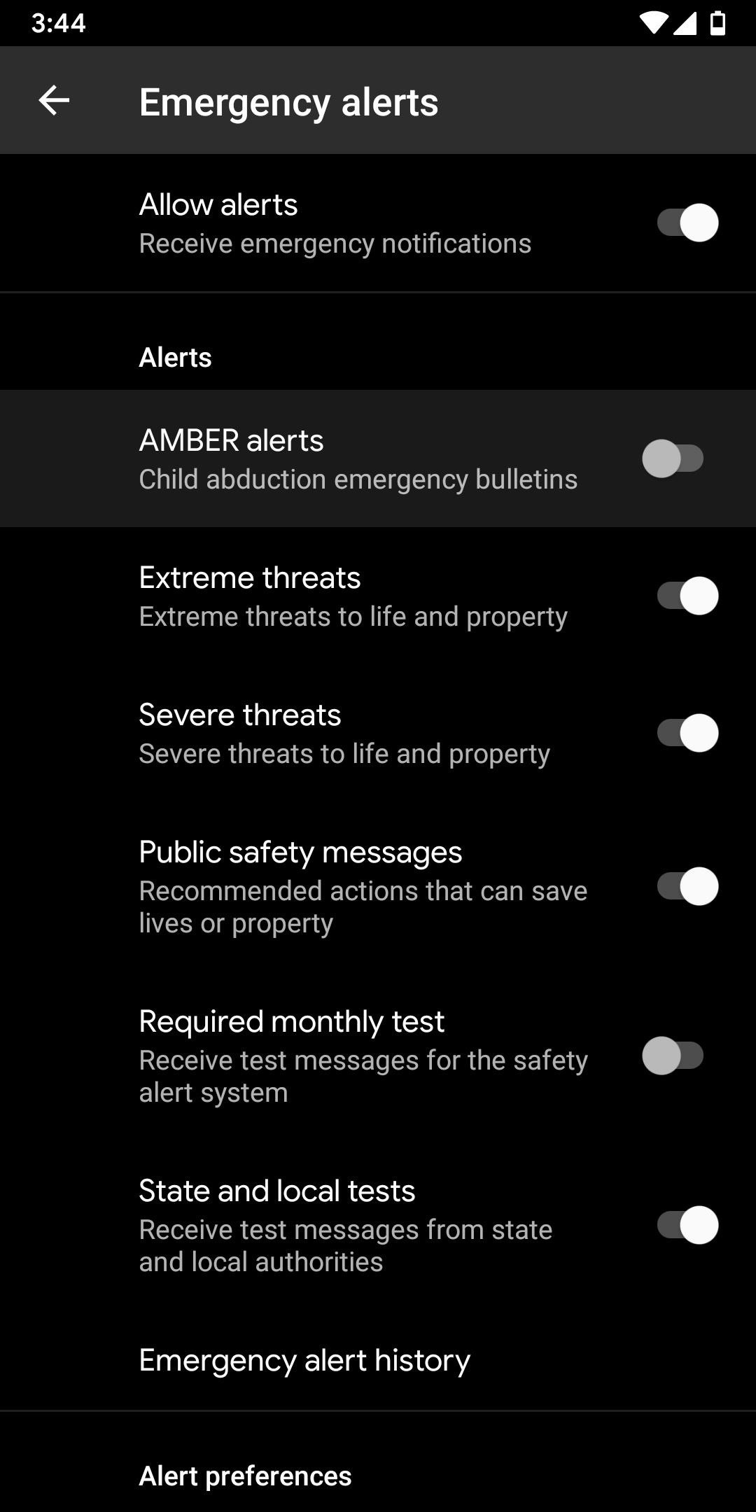 Disabling annoying amber alerts and emergency broadcasts on your Android device