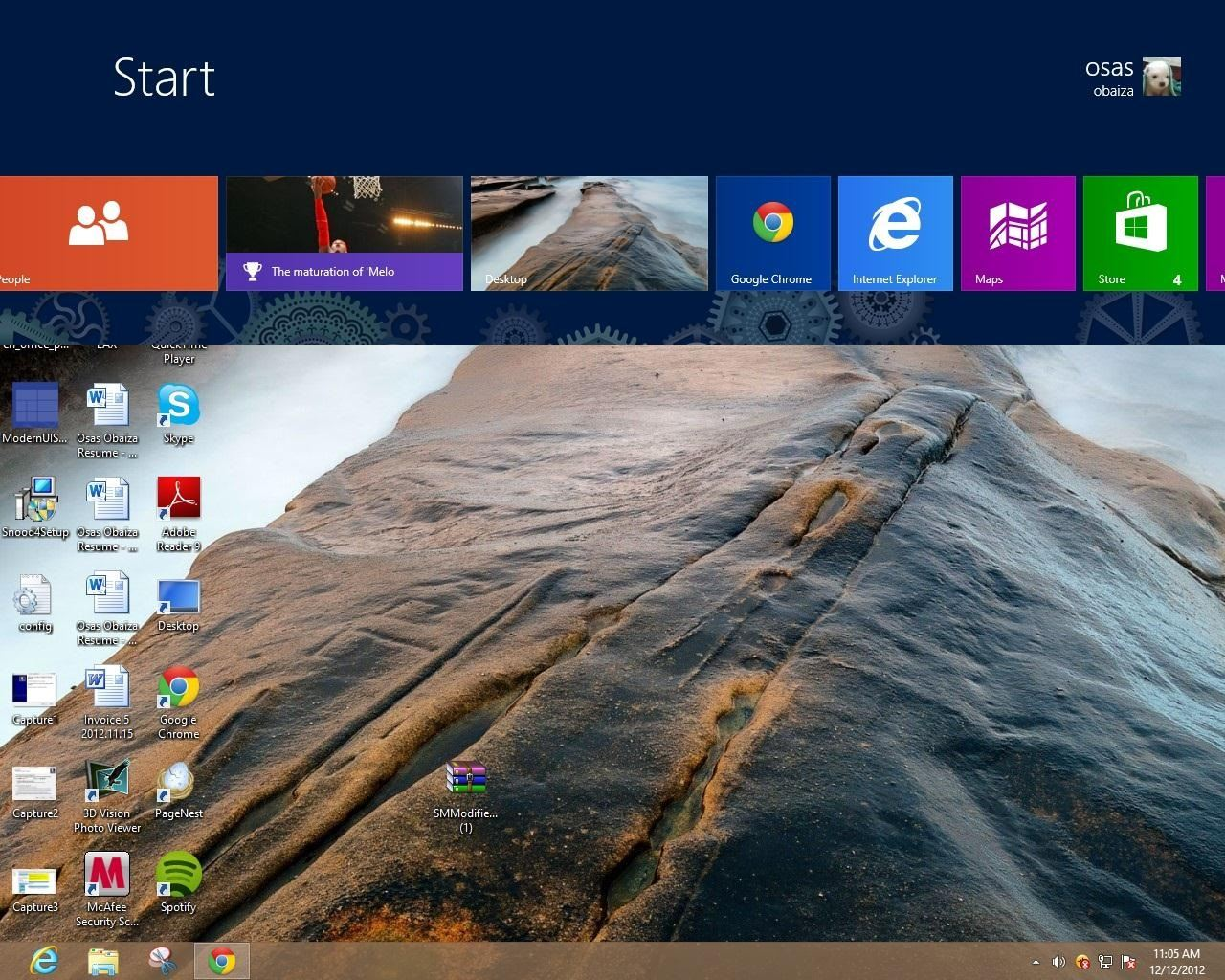 How to Get the Windows 8 Desktop and Start Screen (Or Taskbar and Start Screen) on the Same Display
