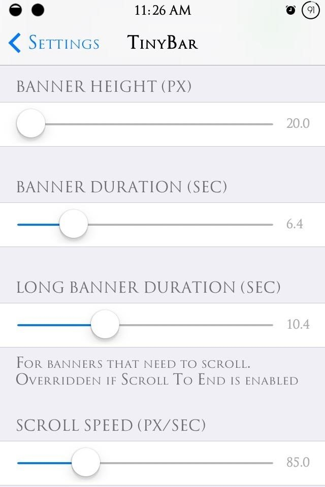 Slim Down Those Annoying iOS 7 Banner Alerts on Your iPhone for Smaller, Scrolling Notifications