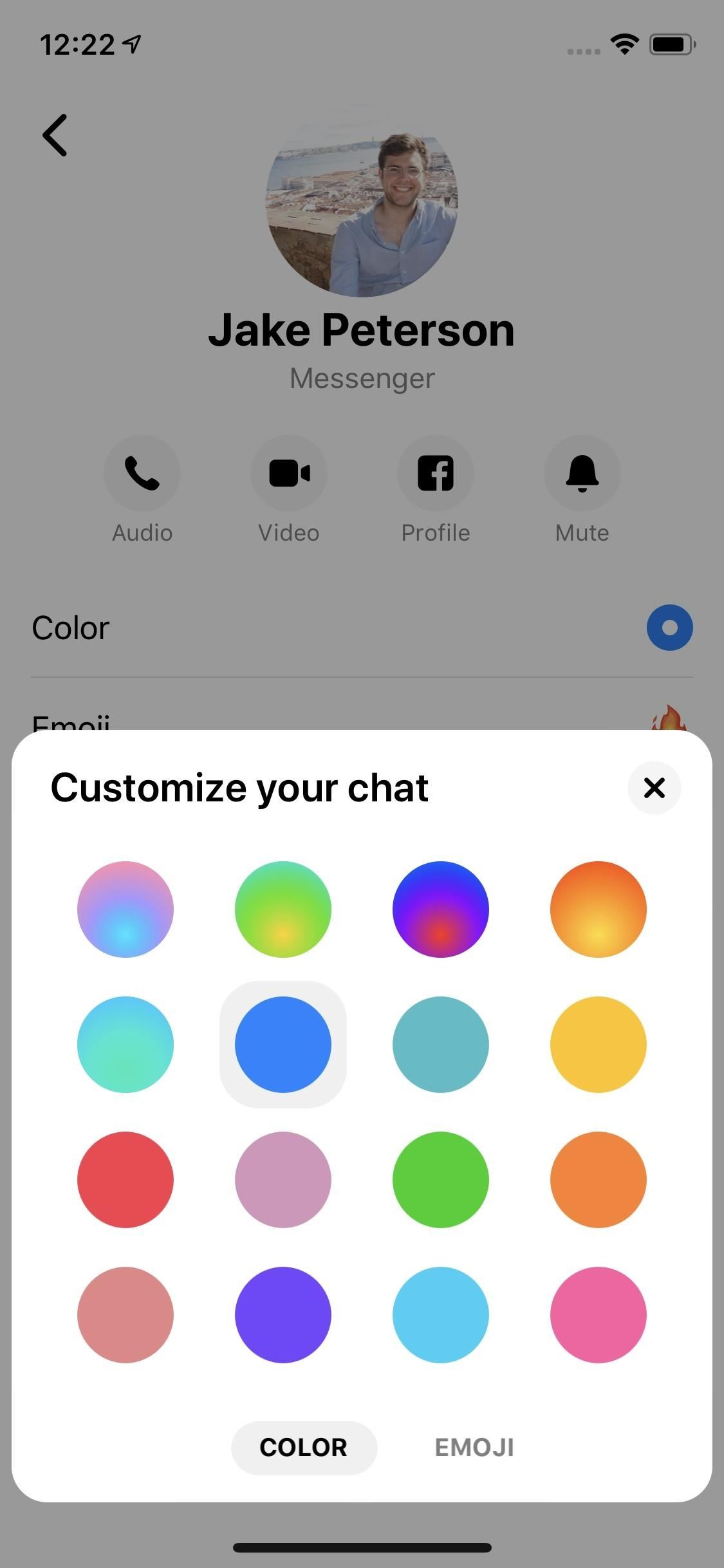 How to Change the Chat Color in Messenger Threads to