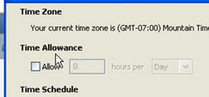 Restrict internet time usage with Net Nanny