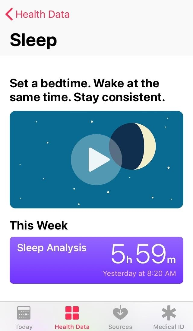 How to track your sleep activity in Apple's health program for iPhone