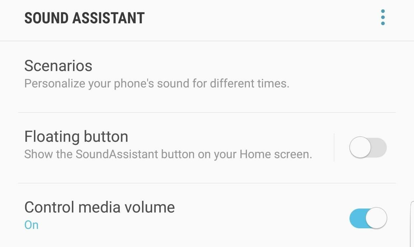 To set the volume keys on your Galaxy Note 9 control by default