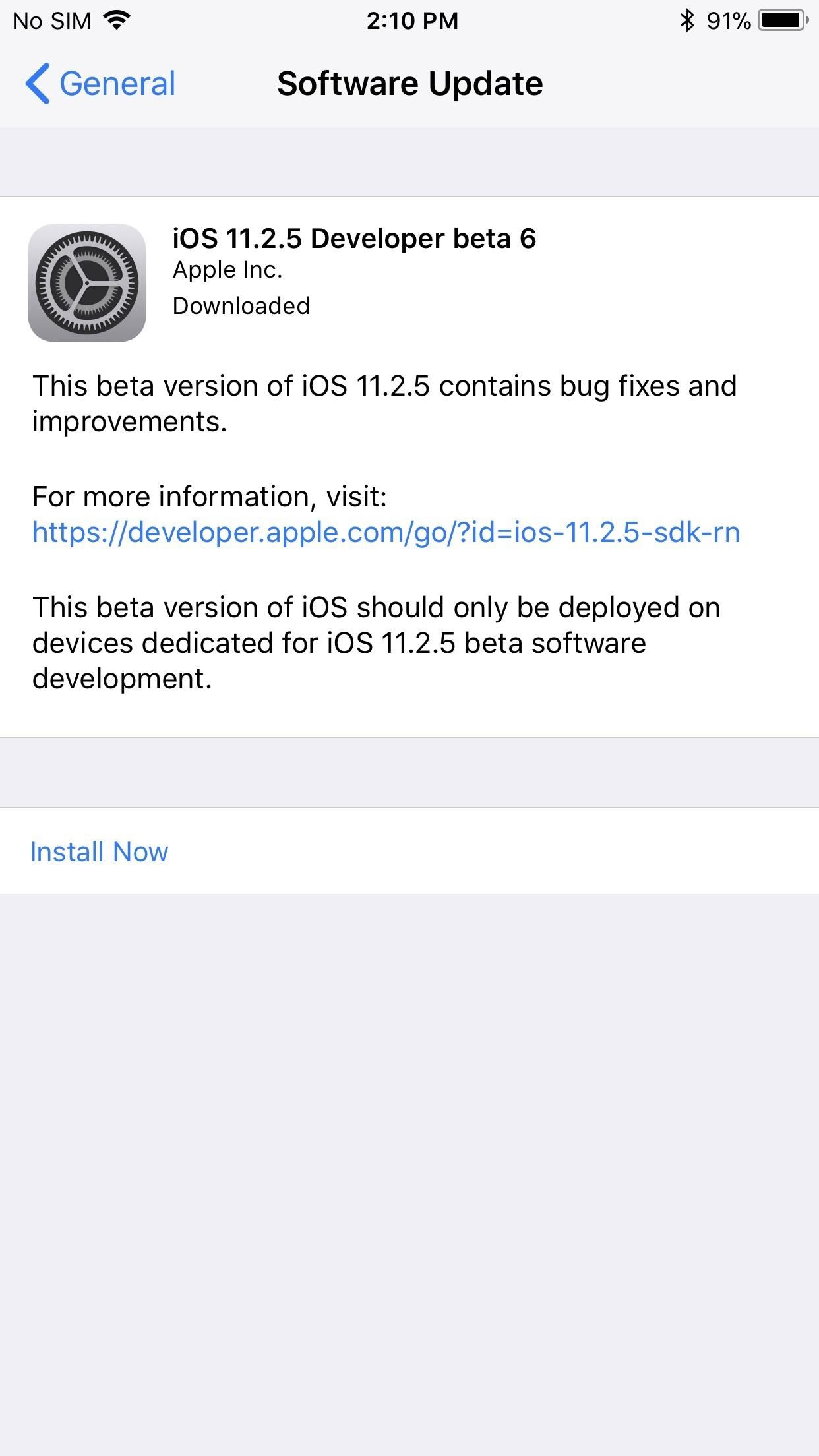 iOS 11.2.5 Beta 6 Released, Almost Ready for the Masses