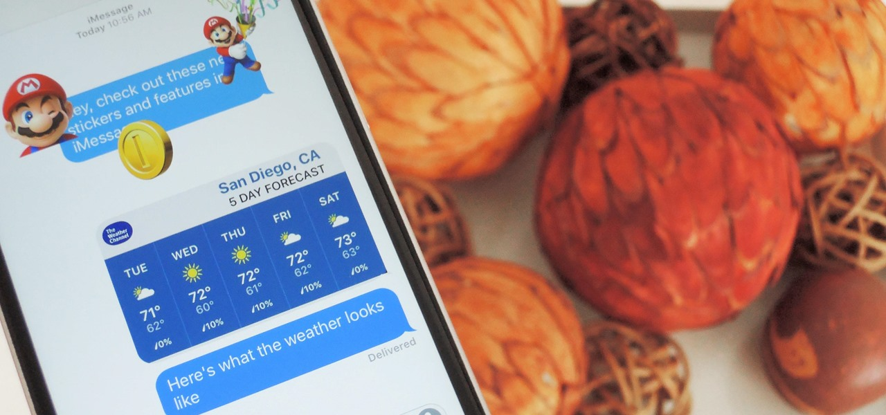 Use the New iMessage App Store in iOS 10 to Send Custom Stickers, Weather Info & More