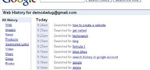 Delete the search history from your Google account