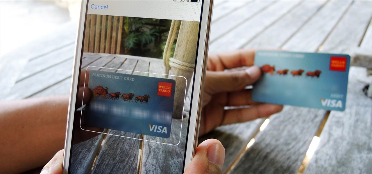 Auto-Fill Credit Card Forms Using Your iPhone's Camera in iOS 8