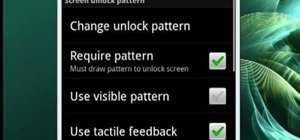 Make your Android phone unlock pattern visible