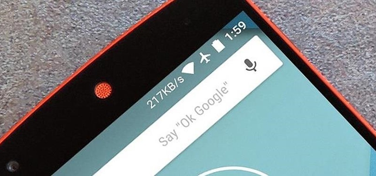 Add a Data Traffic Meter to Your Nexus 5's Status Bar