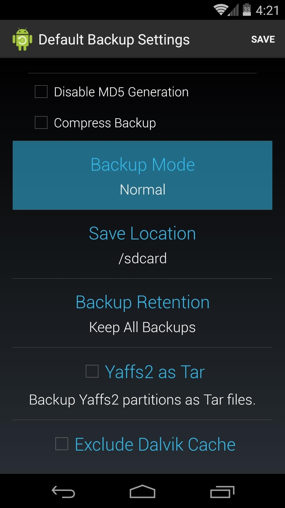 The Flat-Out Easiest Way to Create a Nandroid Backup on Android