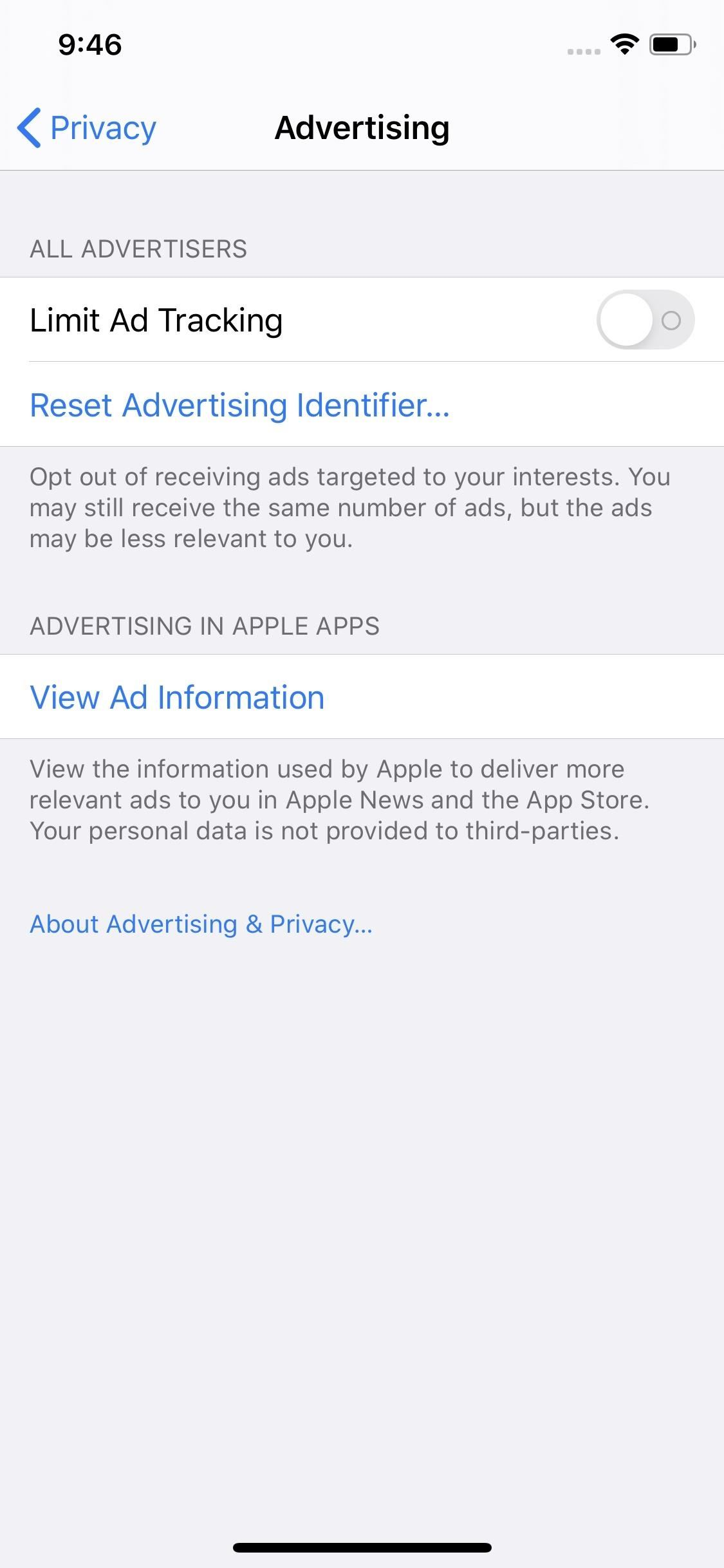 Stop Ads from Spying on Your iPhone Activity
