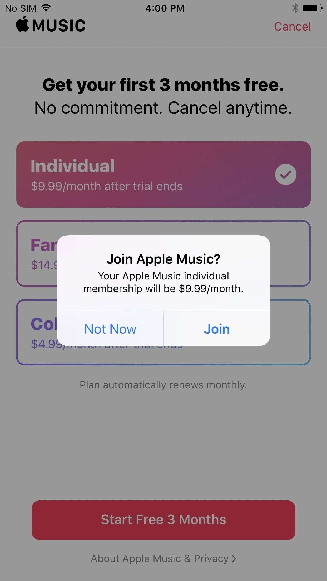 how to stop auto renewal on iphone
