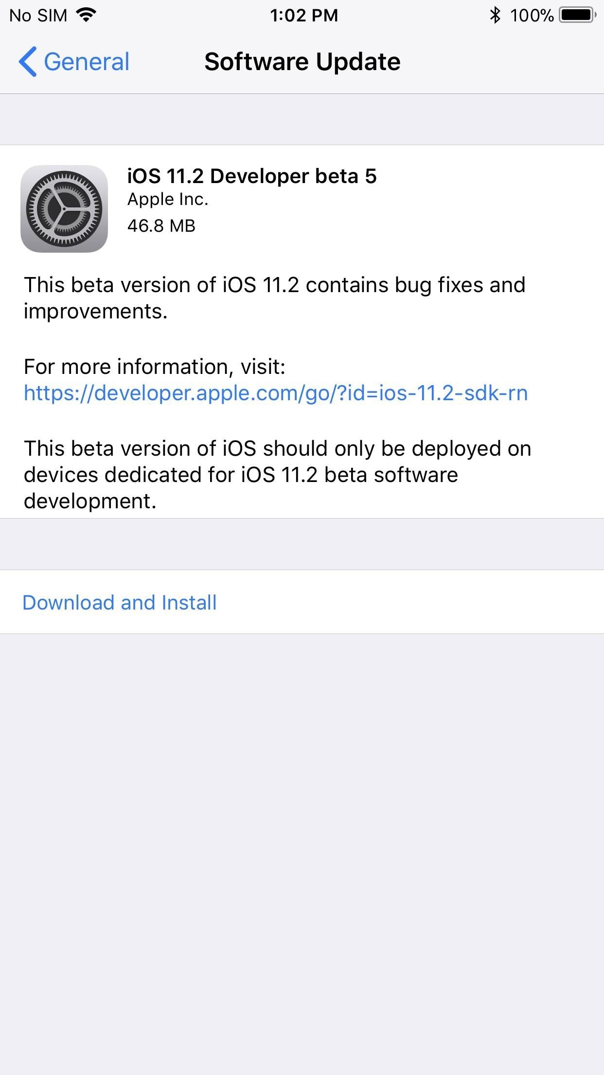 iOS 11.2 Beta 5 Released with Only More Under-the-Hood Improvements