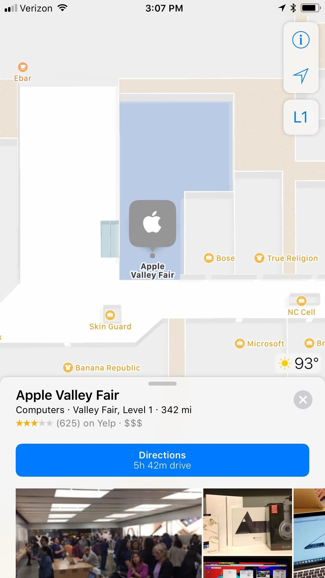 How to navigate indoor mall airport floorplans in apple maps for checking out apples place card in the westfield valley fair malvernweather Images