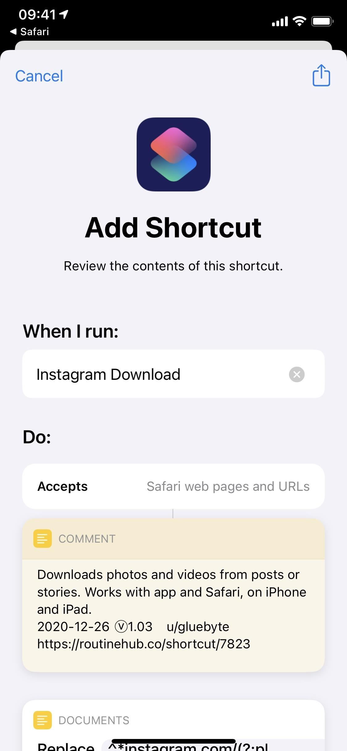Download photos and videos from Instagram posts and stories with this shortcut for iPhone