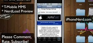 Activate MMS text messaging on the iPhone for T-Mobile