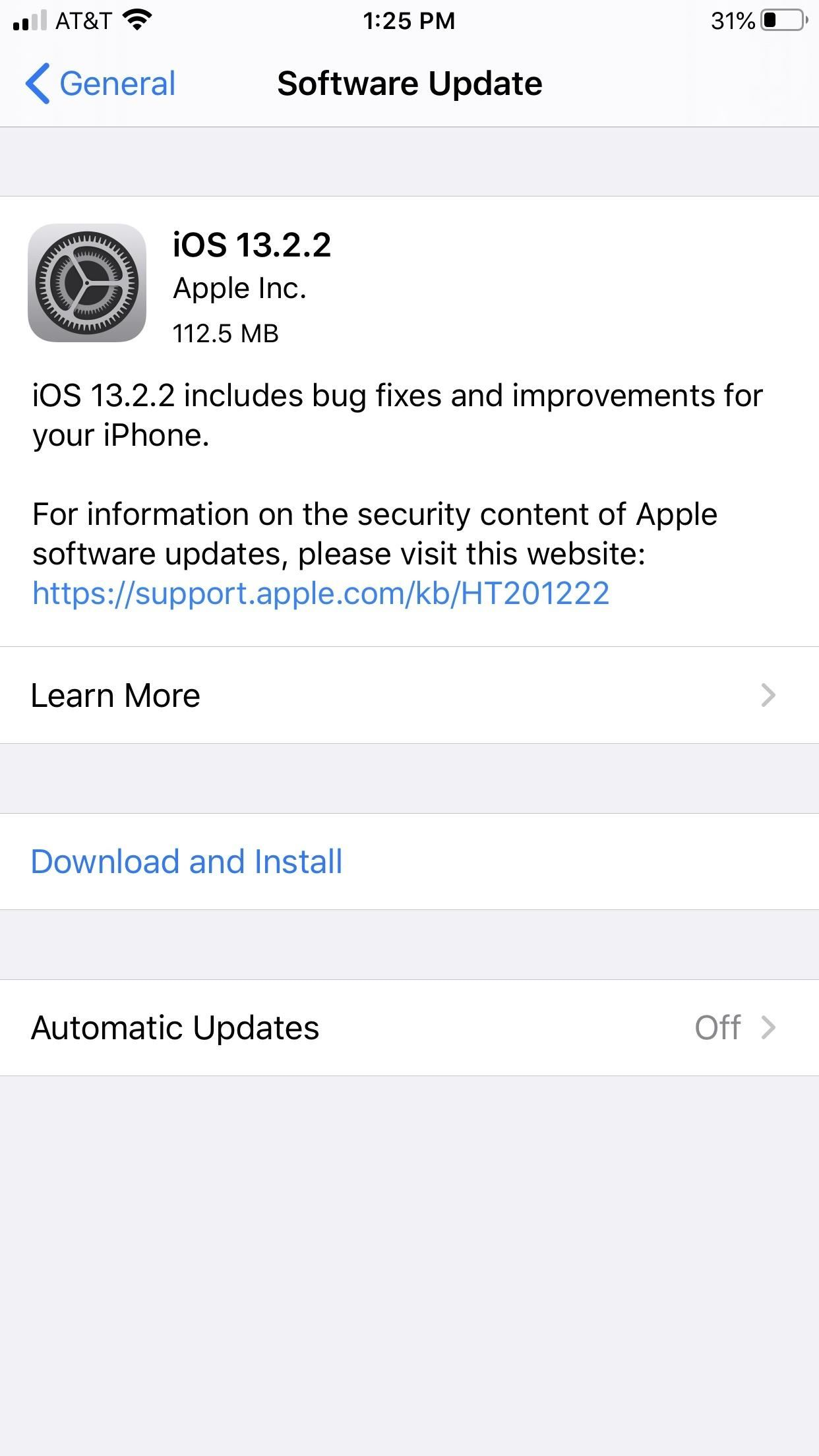 Apple released iOS 13.2.2 for iPhones. Contains corrections for multitasking errors and signal failures.