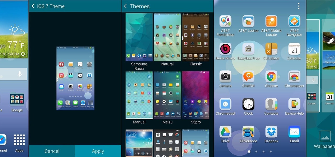 Theme TouchWiz on Your Samsung Galaxy S5