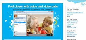 Use Skype for online video calls