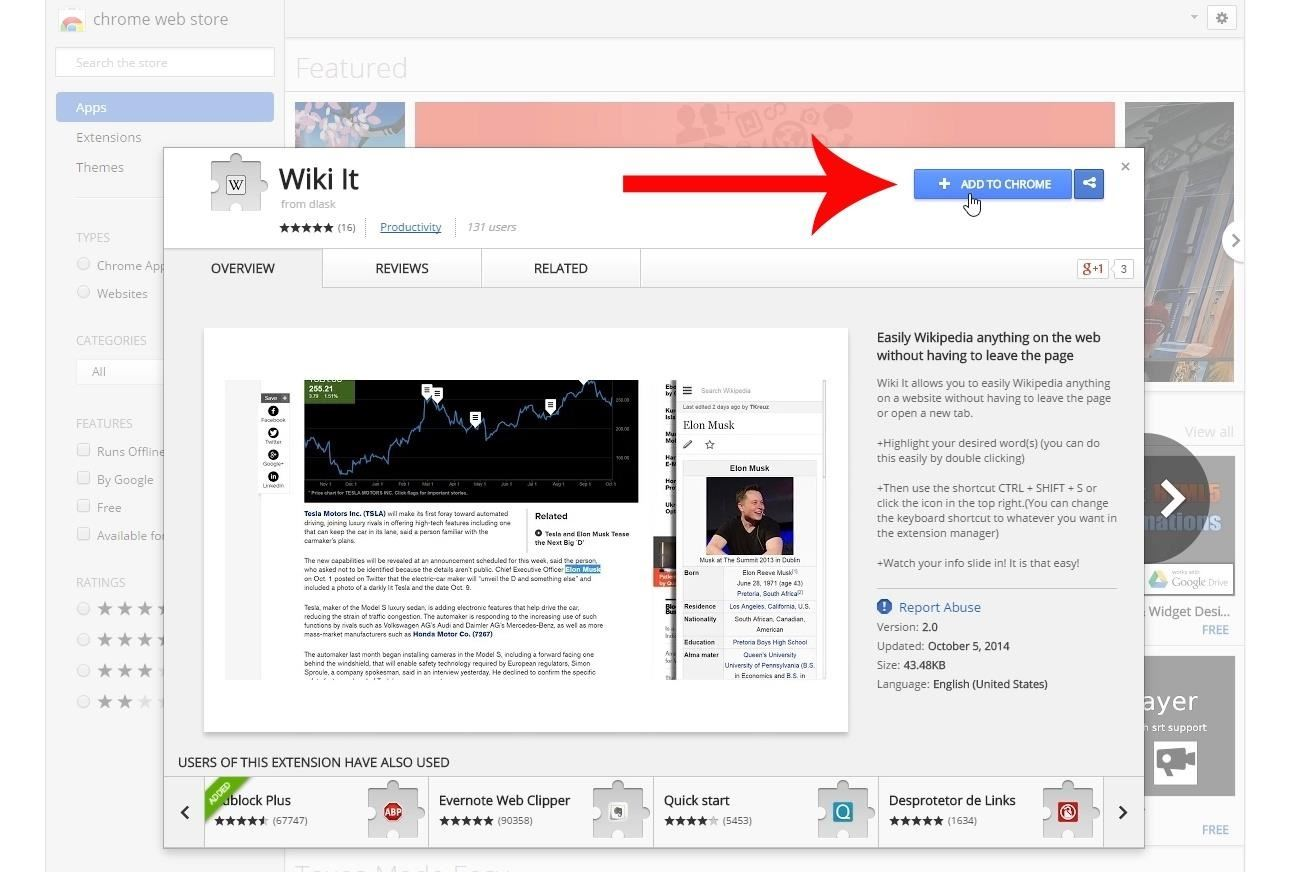 Get Instant Wikipedia Articles Without Leaving the Webpage