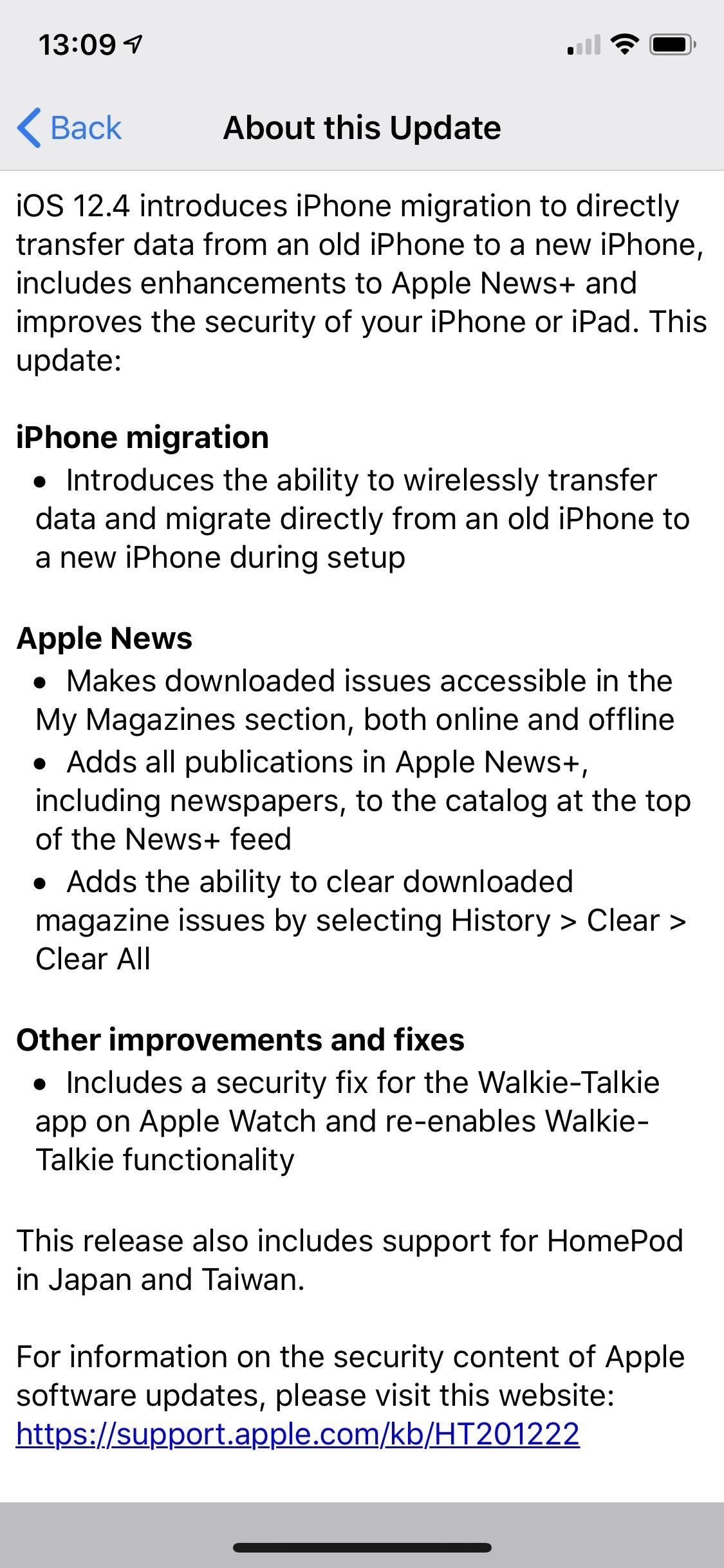 Apple released iOS 12.4 for the iPhone with the migration tool, Apple News + Improvements & More