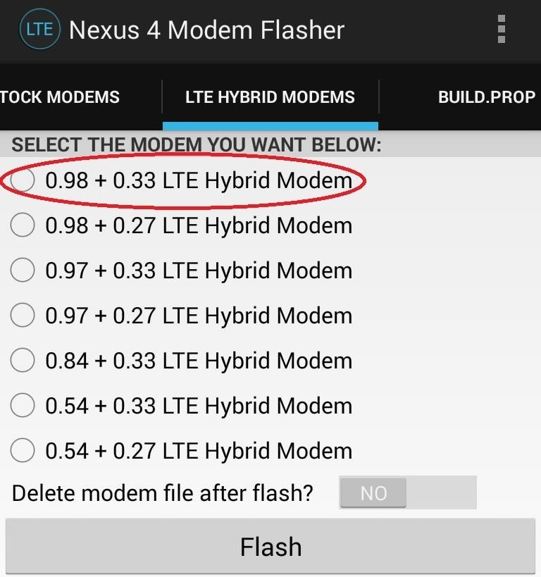 How to Enable Blazing Fast LTE Data Speeds on Your Nexus 4