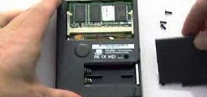 Remove the memory card from a Palm Pilot 1000