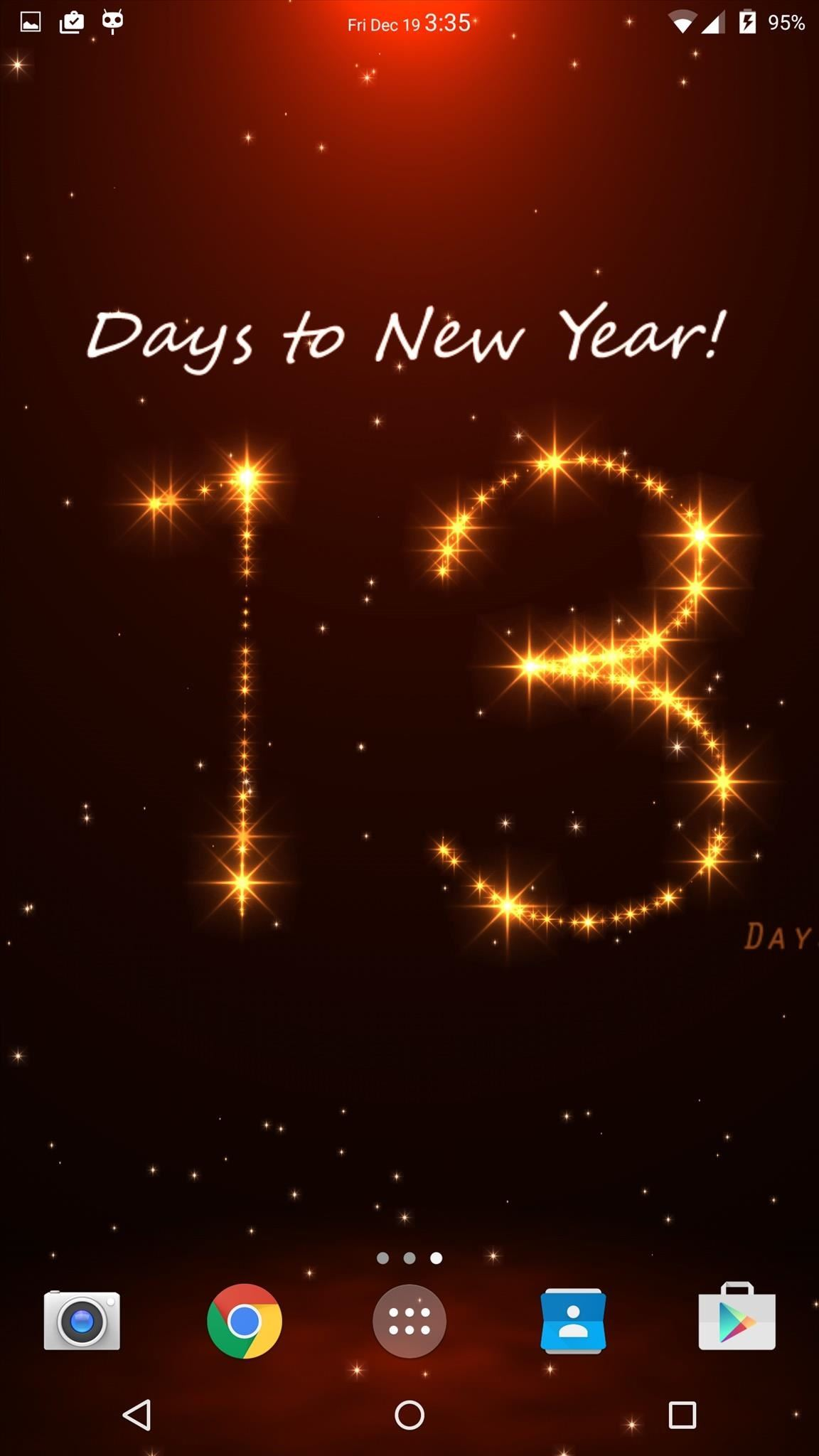 Turn Your Android's Wallpaper into a Christmas & New Year's Countdown Clock