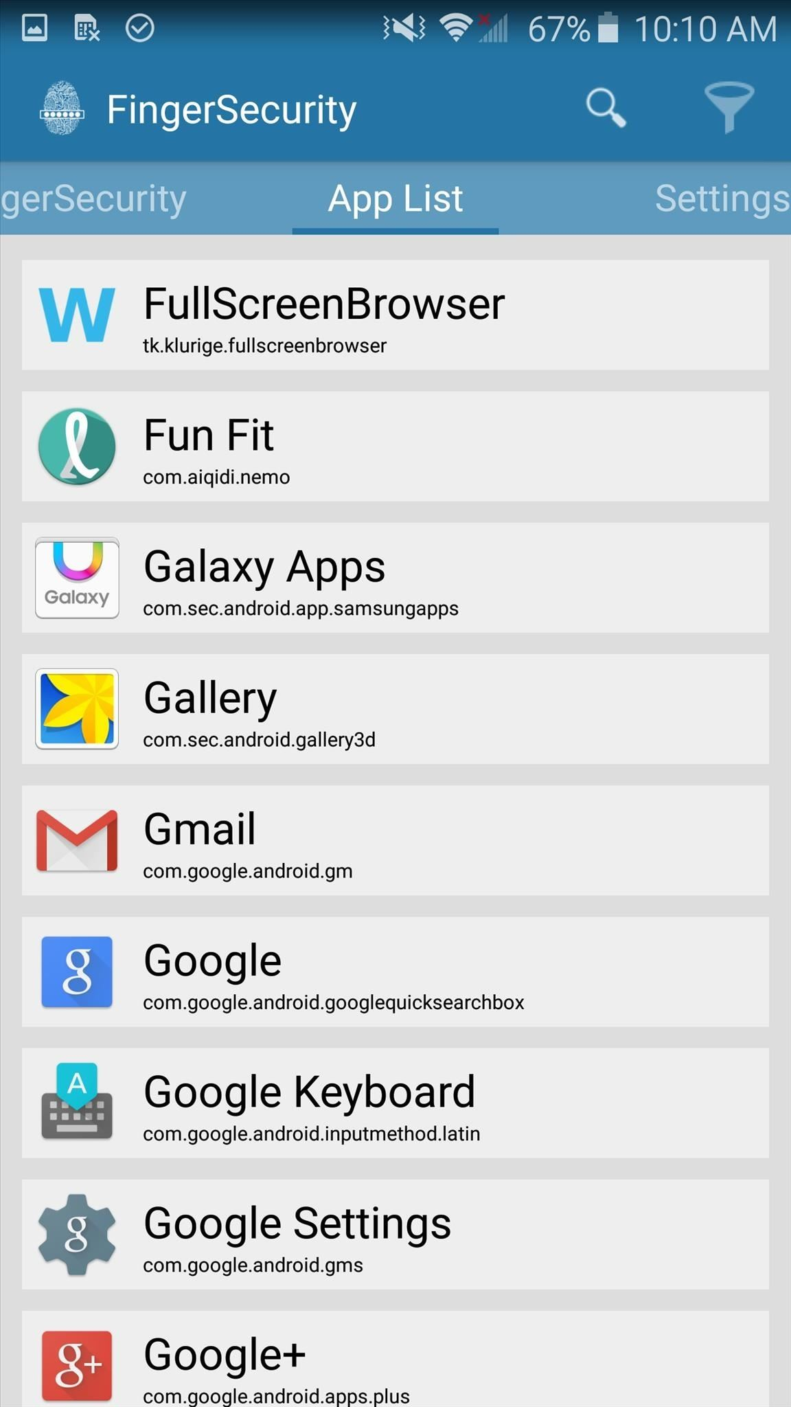 Clear Default Apps On Samsung Galaxy S6 Which Apps You Want To Secure,  Then Enable The Service For That App When You