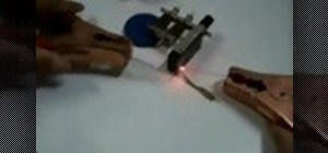Make a soldering iron out of a graphite pencil and jumper cables