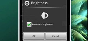 Adjust the brightness on your Android phone