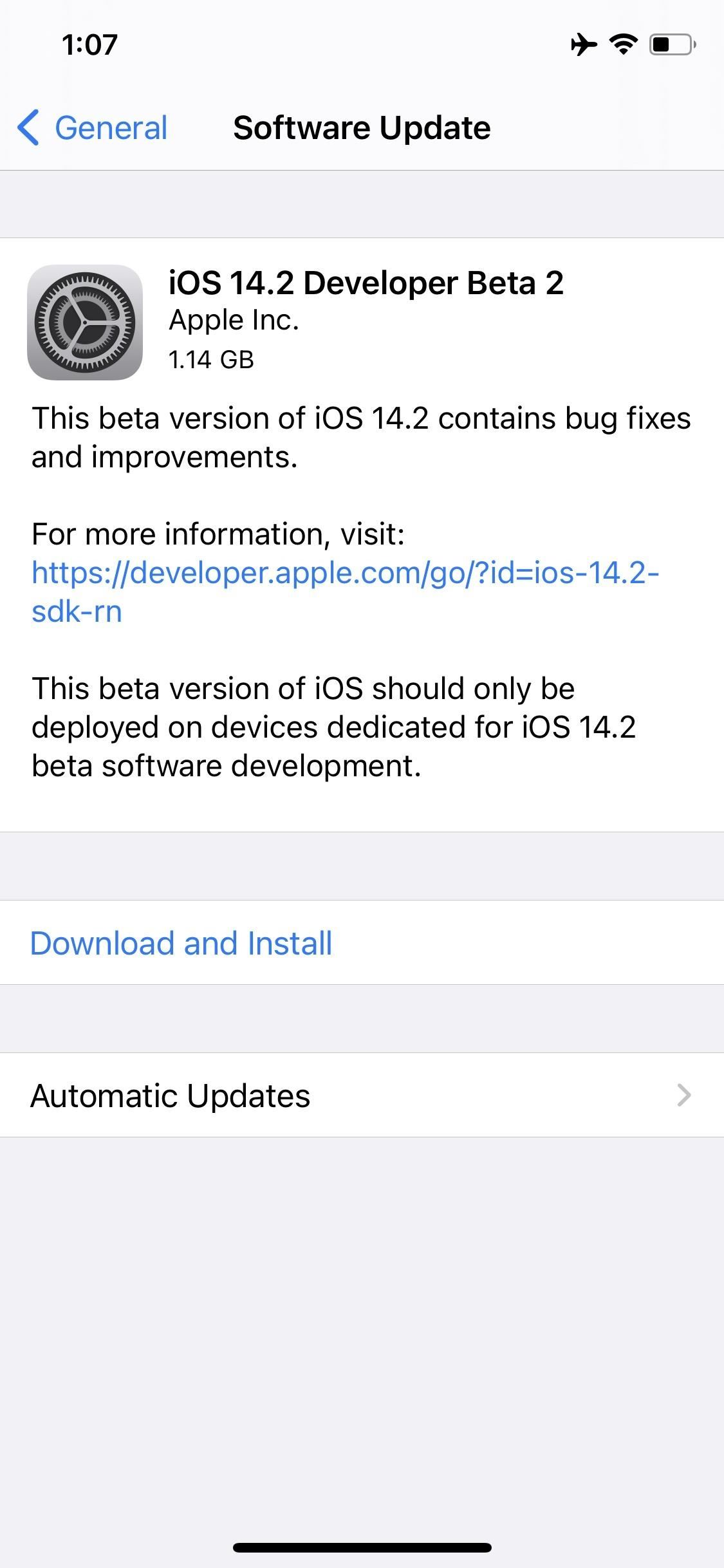 Apple Releases iOS 14.2 Developer Beta 2 for iPhone