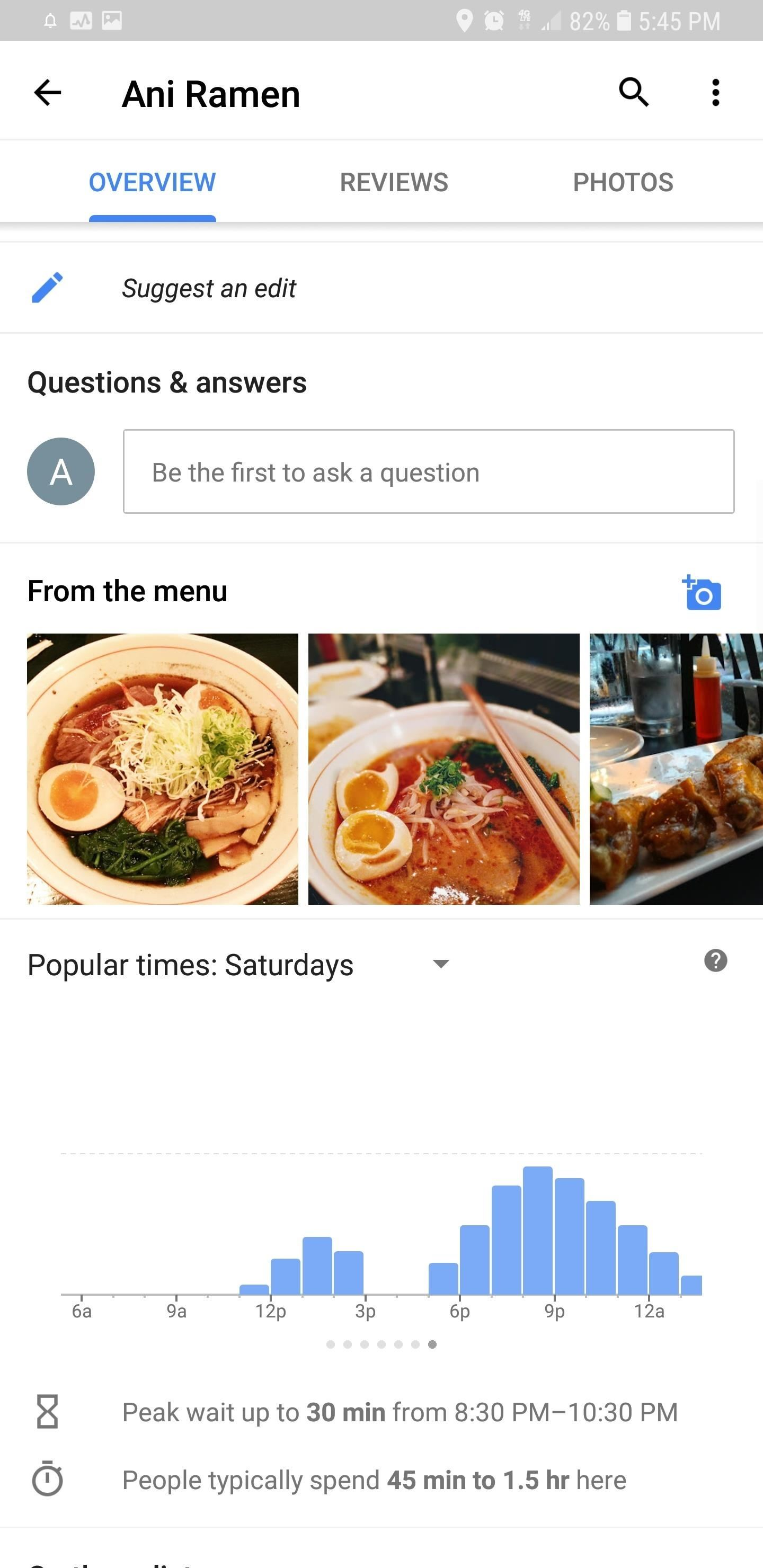 Google Maps 101: How to See Average Wait Times for Restaurants