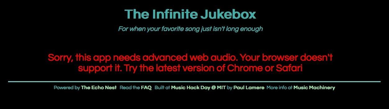 How to Make Your Favorite Song Last Forever with Infinite Jukebox