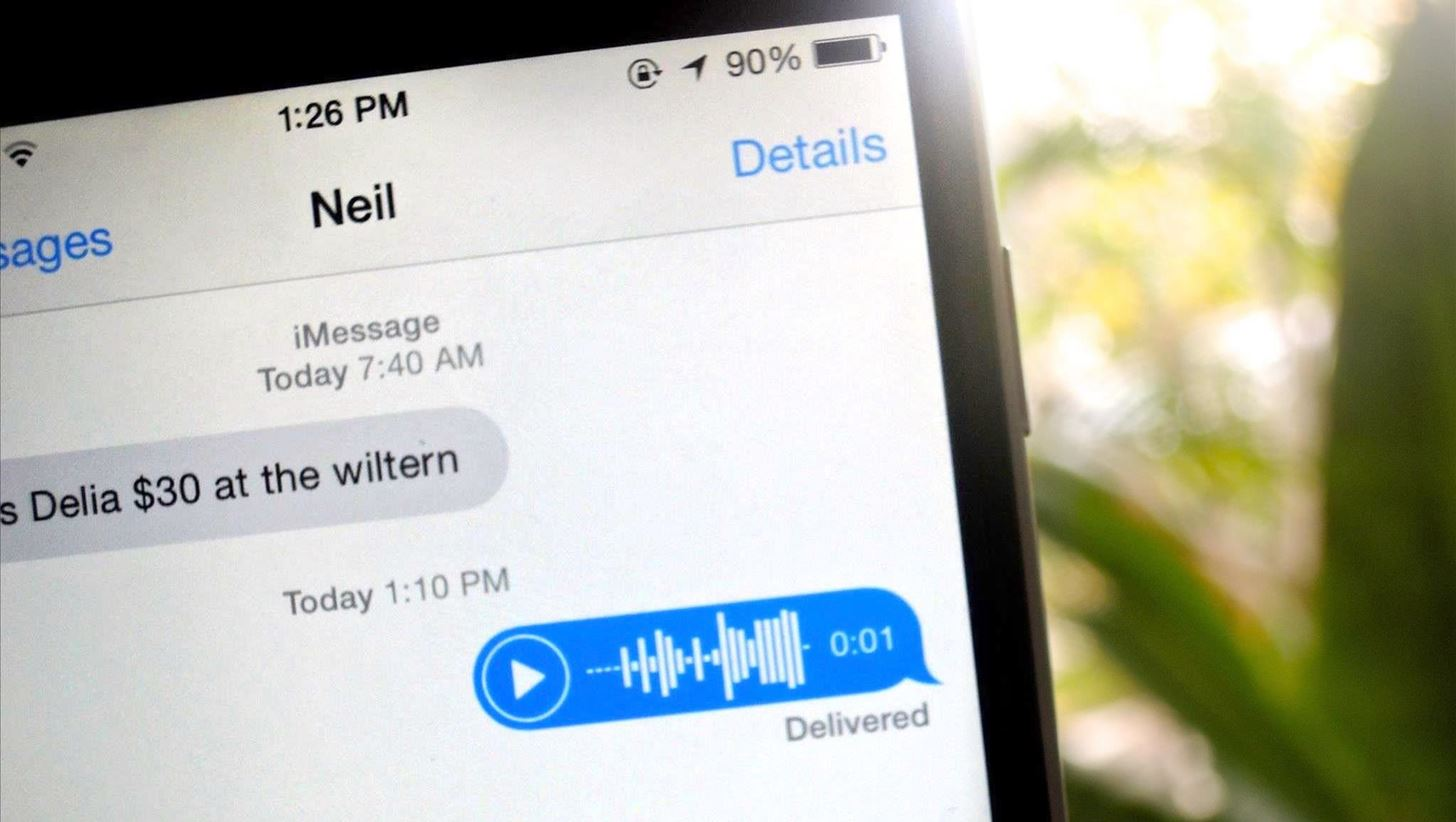 How to Remove the Audio Recording Button in iOS 8's Messages App