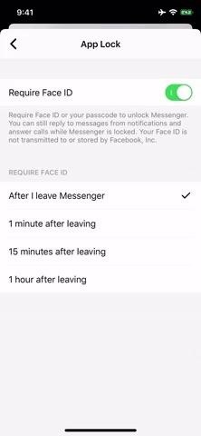 Lock Facebook Messenger Behind Face ID or Touch ID for Maximum Security