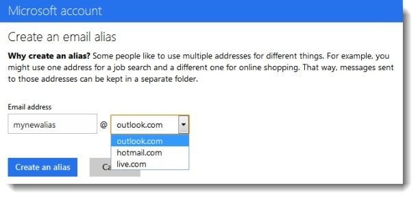 How to Add and Use Outlook.com E-Mail Aliases