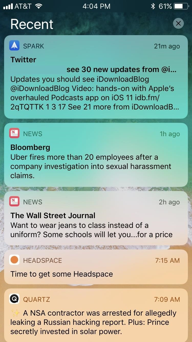 People Are Pissed About iOS 11's New Notification System