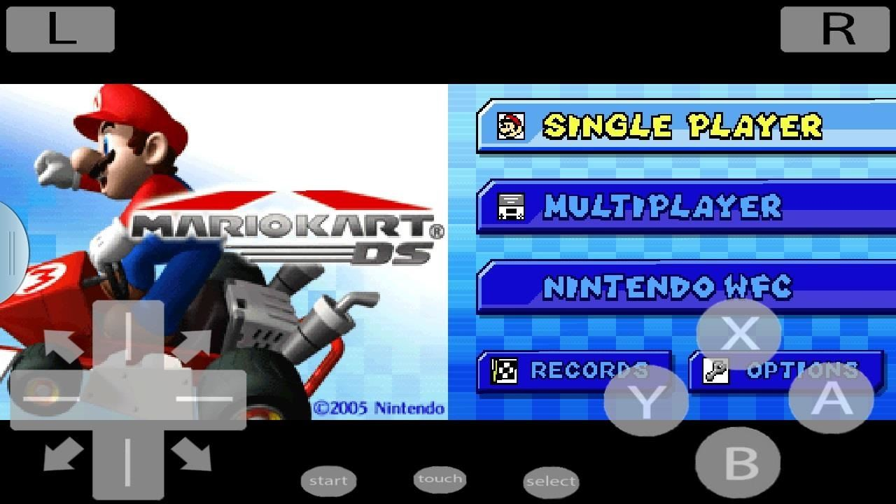 mario kart game boy emulator