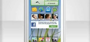 Personalize the home screen on a Nokia C6 mobile phone