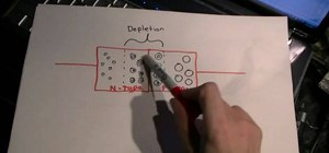Make a point contact transistor with germanium and phosphor bronze contacts