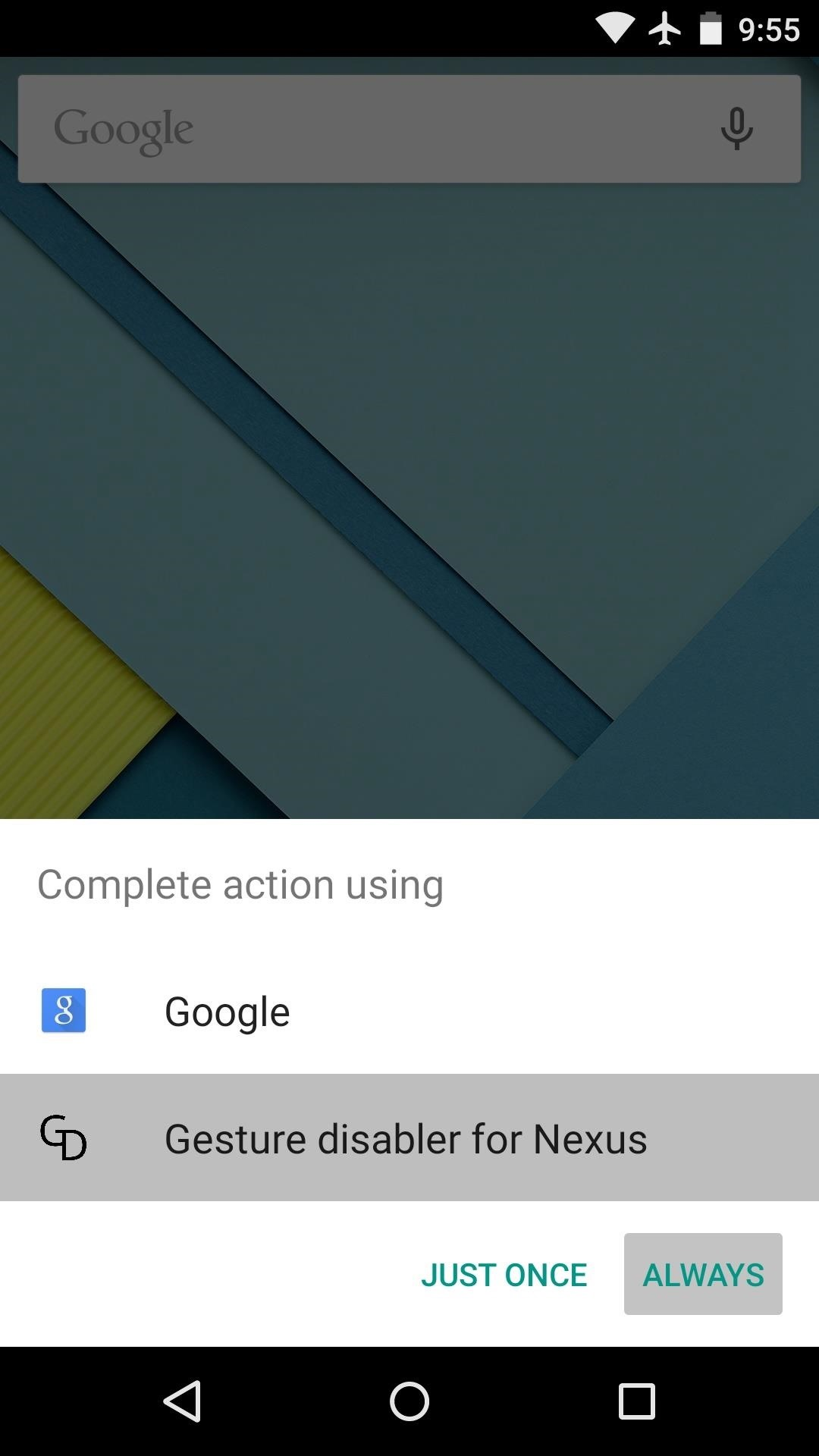 Disable the Redundant Google Now Swipe Gesture on Nexus Devices