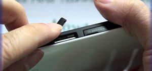 Insert a SIM card into the Samsung Galaxy Tab
